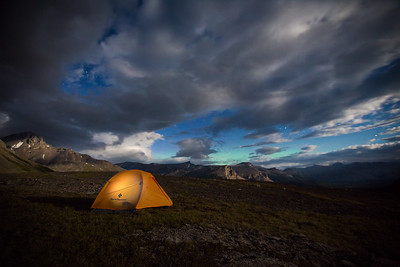 Backcountry camping in White Goat Wilderness