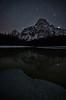 Stars rise behind Mount Chephren, Banff National Park