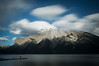 Person with Canoe, Lake Minnewanka