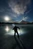 Ice hockey at night