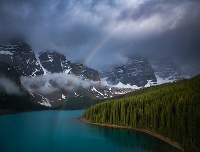 Rainbow, Moraine Lake