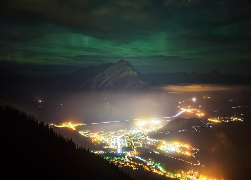Aurora Borealis over Banff