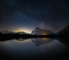 Milky Way over Mount Rundle and Vermilion Lakes