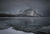 Lake Minnewanka beginning to Freeze