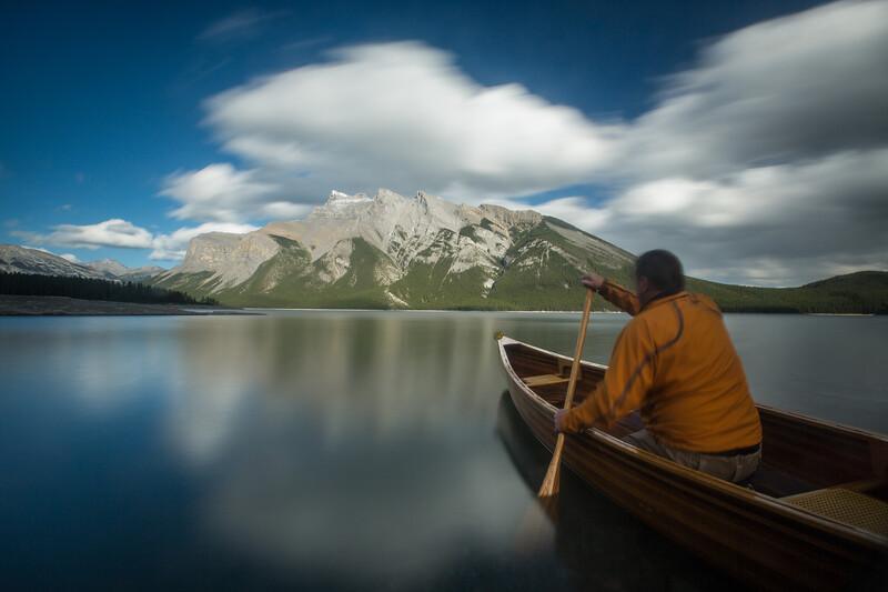Person in Canoe, Lake Minnewanka