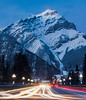 Banff Avenue under Cascade Mountain