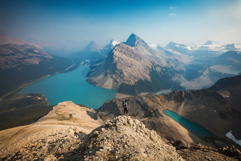 View from Little Jimmy over Bow Lake, Banff National Park