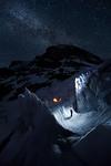 Night Ice Climbing Athabasca Glacier