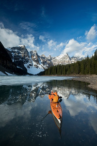Kayaking Moraine Lake