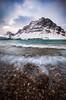 First snow at Bow Lake, Banff National Park