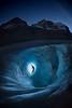 Night climbing at Athabasca Glacier