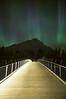 Aurora Borealis over town of Banff