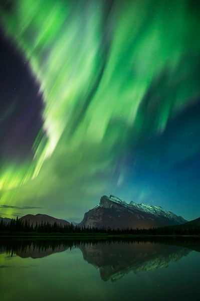 Aurora over Banff