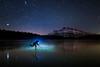 Ice hockey under the stars