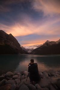 Sunrise at Lake Louise