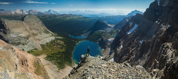 View from Scarab Peak over Scarab and Egypt Lake, Banff National Park