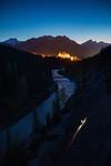 Climbing at Spray Slabs, Banff National Park