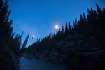 Highlining over Cascade River, Banff National Park