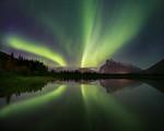 Aurora over Banff