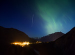 Aurora over Fairmont Banff Springs Banff