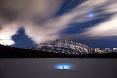 Night time In Banff