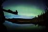 """Alone with the Aurora"" IV, Herbert Lake, Banff National Park, Alberta, Canada."