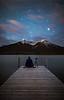 """Pondering the Universe""<br /> <br /> Vermilion Lakes, Banff National Park, Alberta, Canada."