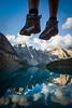 """Two Feet and Ten Peaks"" I, Moraine Lake, Banff National Park, Alberta, Canada."