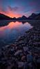 """Explosive Morning"" I, Bow Lake, Banff National Park, Alberta, Canada."