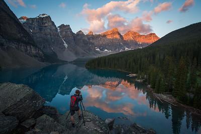 """Explosive Morning"" XI, Moraine Lake, Banff National Park, Alberta, Canada."