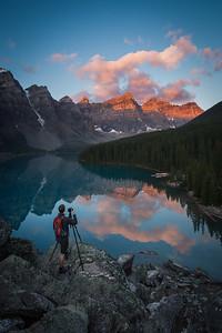 """Explosive Morning"" X, Moraine Lake, Banff National Park, Alberta, Canada."