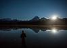 """Starry Stillness"" I, Self-portrait, Island Lake, Banff National Park, Alberta, Canada."