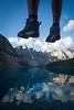 """Two Feet and Ten Peaks"" VII, Moraine Lake, Banff National Park, Alberta, Canada."