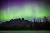 """Emerald Dreams"" VI, June 8th 2014 Aurora at Castle Mountain, Banff National Park, Alberta, Canada."