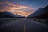 """Evening on the Parkway"" I, Sunset on the Icefields Parkway, Banff National Park, Alberta, Canada."