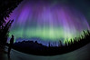 """Purple Rain"" III, June 8th 2014 Aurora at Castle Mountain, Banff National Park, Alberta, Canada."