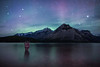 """Lake of the Water Spirits"" I, Lake Minnewanka, Banff National Park, Alberta, Canada."