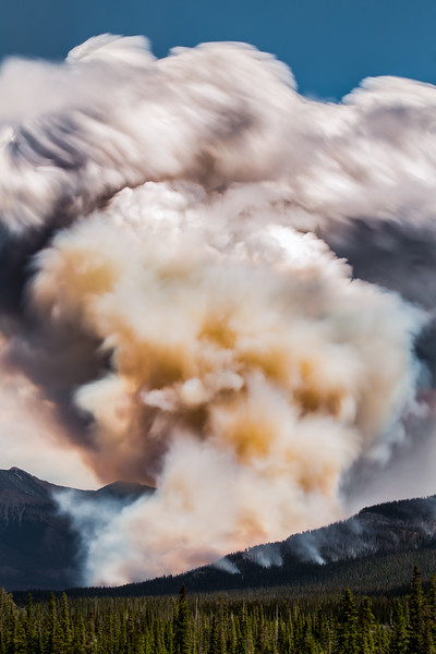 """Eruption"" IV, Warden Lake Wildfire, Banff National Park, taken during the 2014 Fairmont tour."