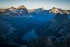 """O'Hara Bliss"" III, Sunrise from the summit of Yukness Mountain, Yoho National Park, BC, Canada."