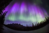 """Purple Rain"" II, June 8th 2014 Aurora at Castle Mountain, Banff National Park, Alberta, Canada."