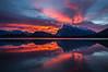 """Explosive Morning"" III, Vermilion Lakes, Banff National Park, Alberta, Canada."