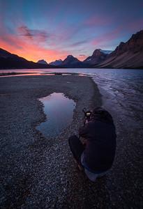 """Explosive Morning"" V, Bow Lake, Banff National Park, Alberta, Canada."