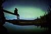"""Alone with the Aurora"" VI, Herbert Lake, Banff National Park, Alberta, Canada."