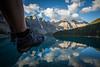 """Two Feet and Ten Peaks"" IV, Moraine Lake, Banff National Park, Alberta, Canada."