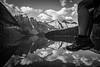 """Two Feet and Ten Peaks"" IX, Moraine Lake, Banff National Park, Alberta, Canada."