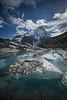 Glacier and lake, Mount Robson Provincial Park, British Columbia, Canada
