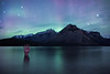 """Lake of the Water Spirits"" IV, Lake Minnewanka, Banff National Park, Alberta, Canada."