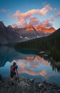 """Explosive Morning"" XII, Moraine Lake, Banff National Park, Alberta, Canada."