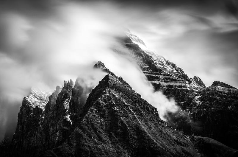 """The Shape of the Wind"", Mount Biddle, Cathedral Prospect, Lake O'Hara area, Yoho National Park, British Columbia, Canada."