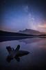 """Dark Reflections"" I, Two Jack Lake, Banff National Park, Alberta, Canada."